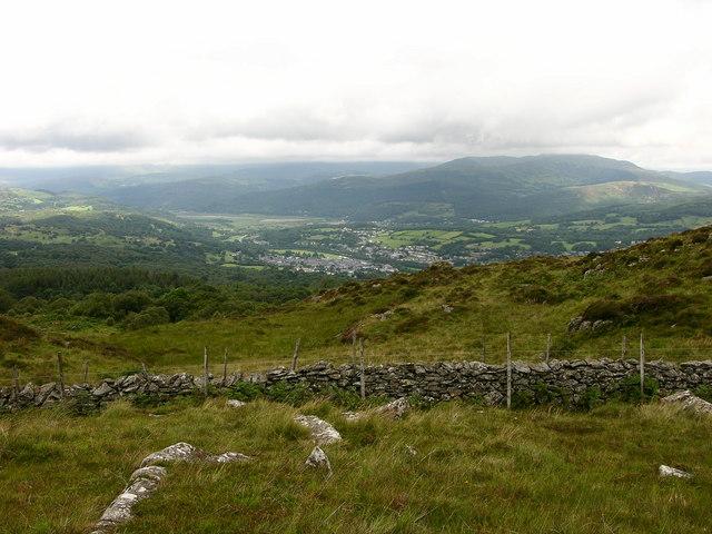 View of Dolgellau near Pen y Bwlch-coch