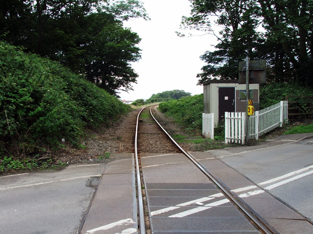 Rail line in Sewerby