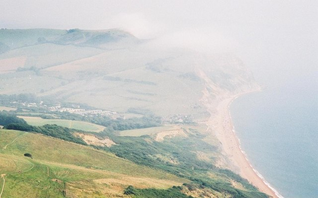 Misty view from the south coast's highest point