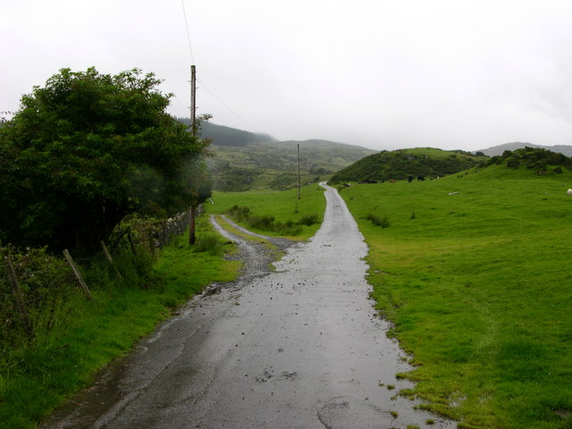 Fork in road near Fridd yr Hengwrt