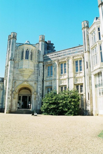 Highcliffe Castle: detail of main entrance