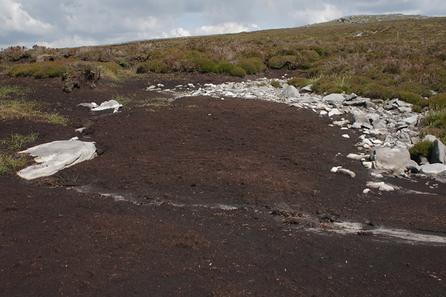Peat and bedrock