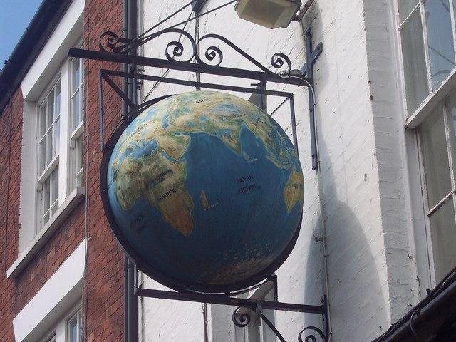 Sign for the Olde Globe Inn