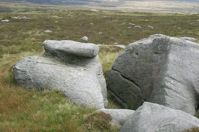 Rocks by Ward's Stone eastern Trig Pillar