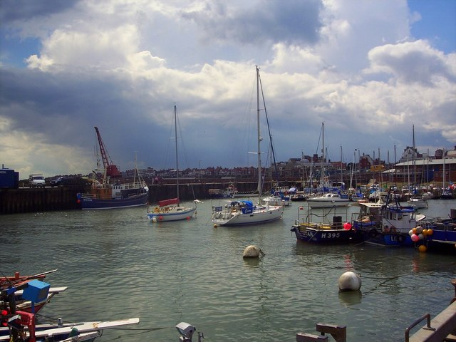 Looking across the harbour, Bridlington