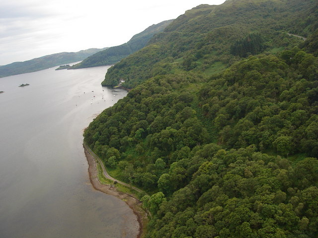 Shoreline at the head of Loch Riddon (or Loch Ruel )