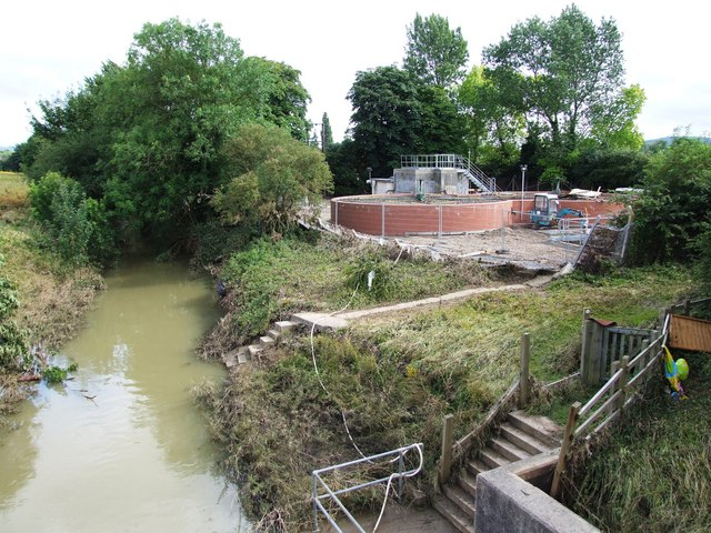 Sedgeberrow sewage treatment works, after the flood