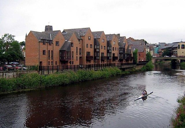 Apartment Block alongside the River Wear