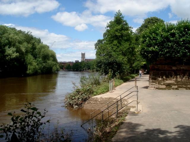 Worcester riverside promenade