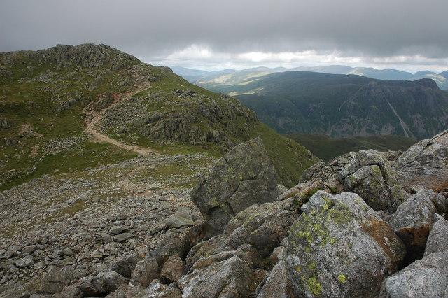 Rocks near Crinkle Crags summit