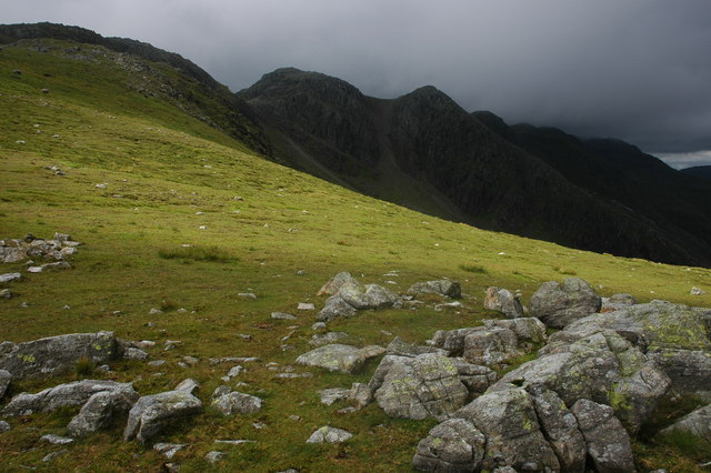 Crinkle Crags viewed from near Great Knott