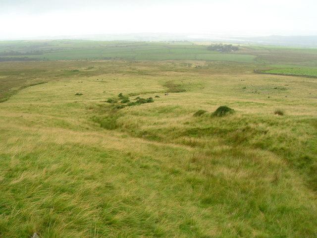 Looking down Corney Fell