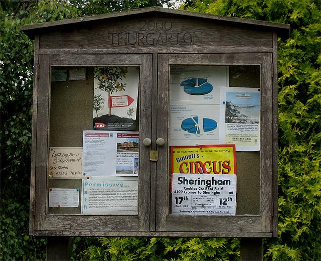 Thurgarton Millennium noticeboard