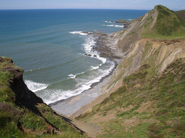 Cliffs above Speke's Mill Beach