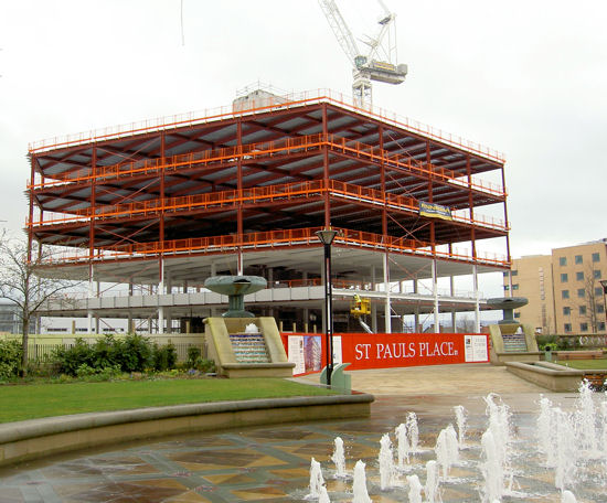 New Office in course of Construction Sheffield Heart of the City.