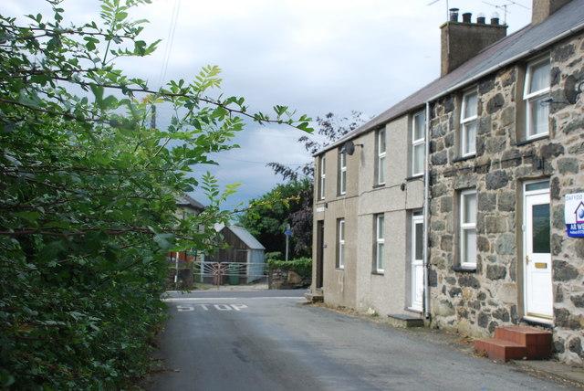 Cartref Myrddin Fardd yng Nglanywern - Myrddin Fardd's home Glanywern Terrace