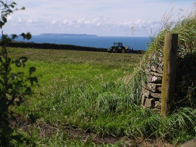 Lundy Island from near  Exmansworthy