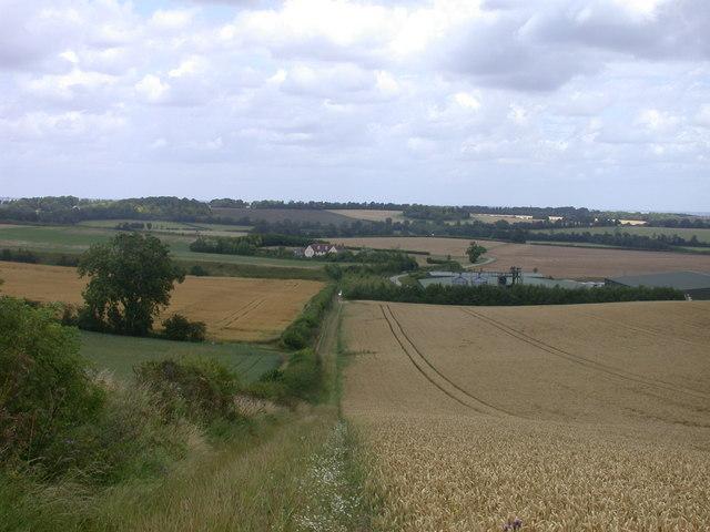 Public Bridleway looking down towards Hatchpen