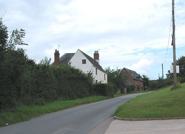 Minor road to the A40 near Pontshill