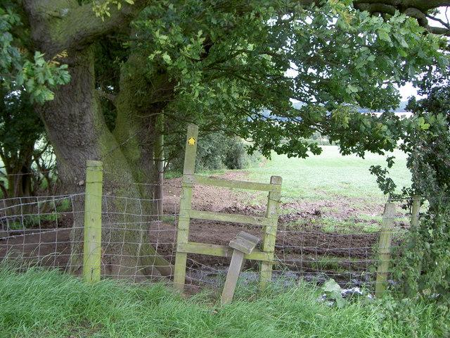 Stile near Bradley Orchard