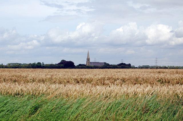 Looking towards Luddington Church