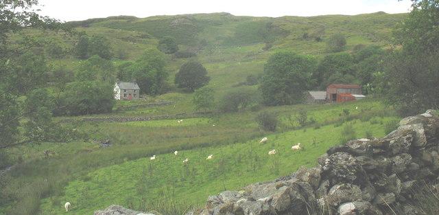 Cae-llwyd Farmhouse and farm buildings at Glan y Mynach