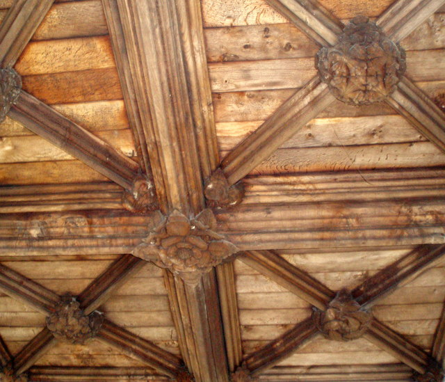 Detail of the Porch Ceiling, Church of St. Mary, Totnes