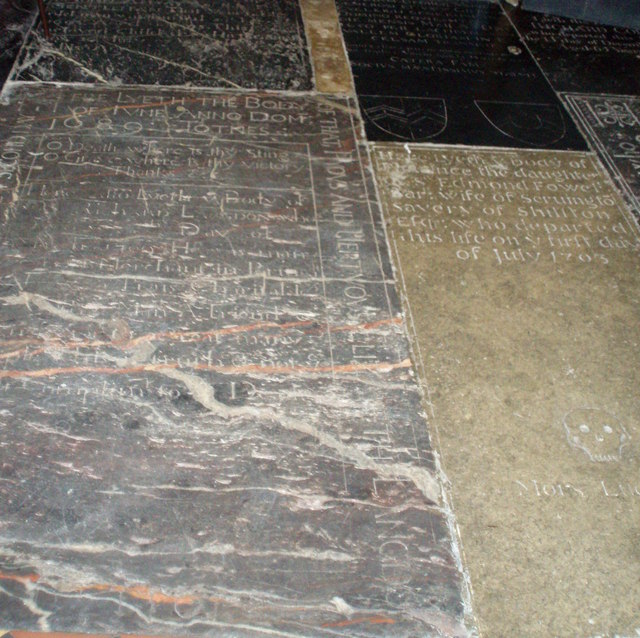Tomb Stones in the Floor of the Church