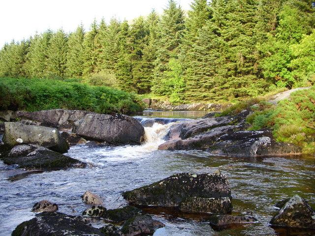 Waterfalls on the Palnure Burn