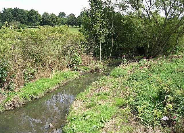 Stream running through Springhead Park