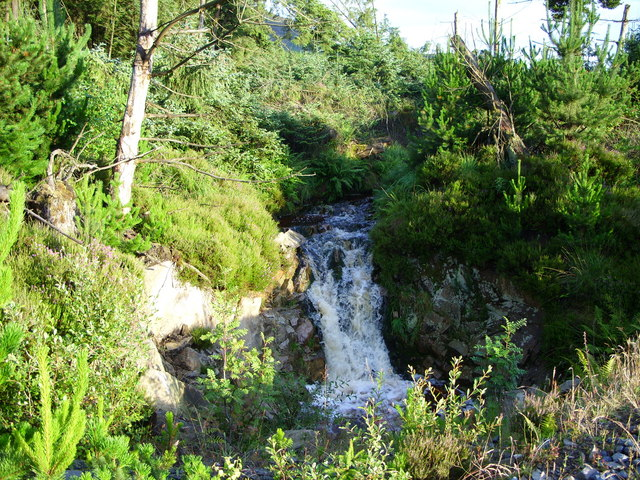 A waterfall on the Crochan Burn