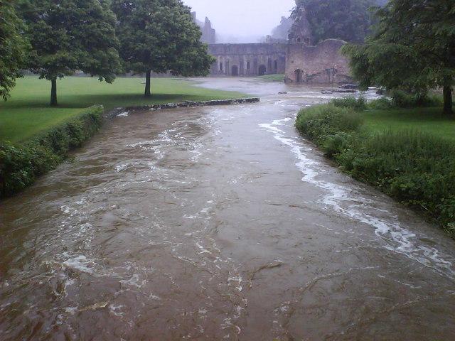 River Skell in Flood