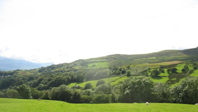 The hill country of Nannau-uwch-afon