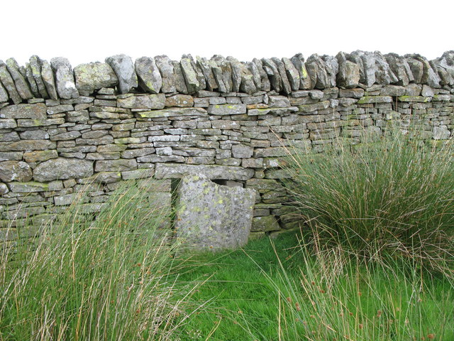 Blocked up sheephole in drystone wall