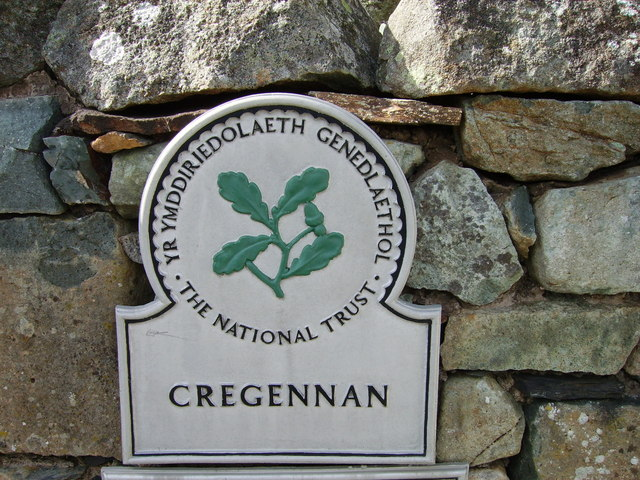 Cregennan - A National Trust  Plaque