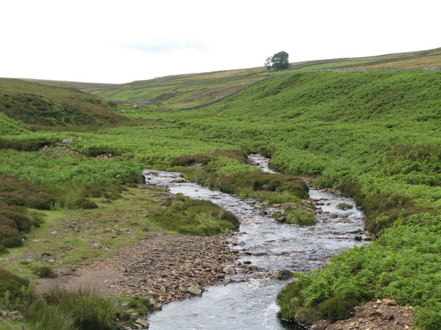 The confluence of Henshaw and Quickcleugh Burns