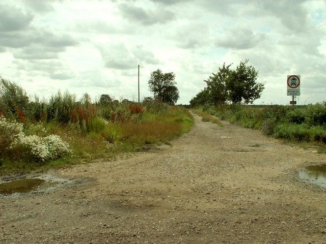 Bridleway leading to High Fen Farm