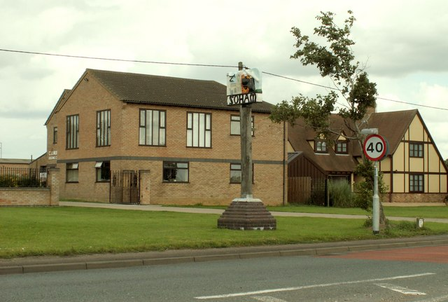 The village sign at Soham