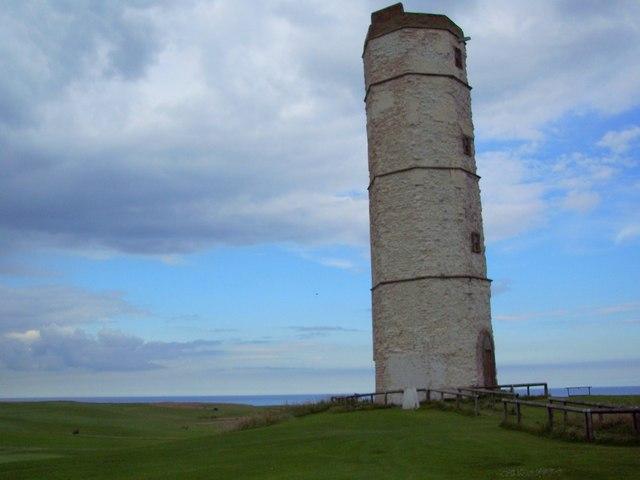 Chalk Lighthouse at Flamborough Head