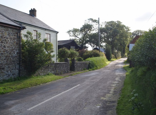 Lane from Soldon Cross