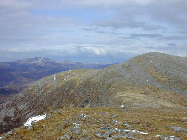 Approaching Beinn Liath Mhor Fannaich from the south west