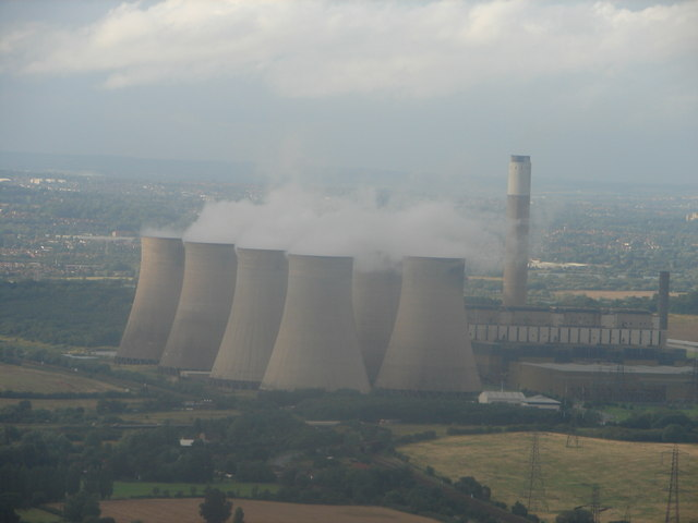Ratcliffe Power Station from the Air