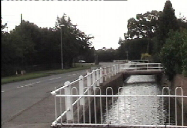 Brook flowing alongside Station Road