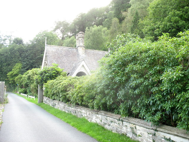The lodge at the main entrance to Tan y bwlch