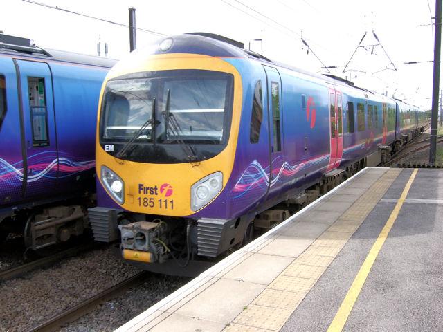 Two Pennine 185 trains at Northallerton