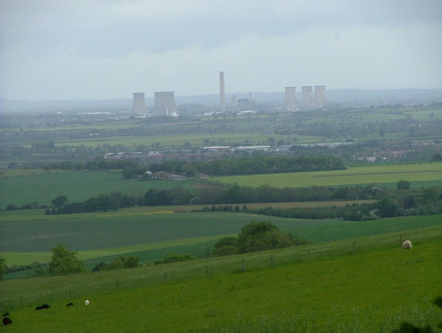 Didcot Power Station from the Ridgeway Path at Nuffield