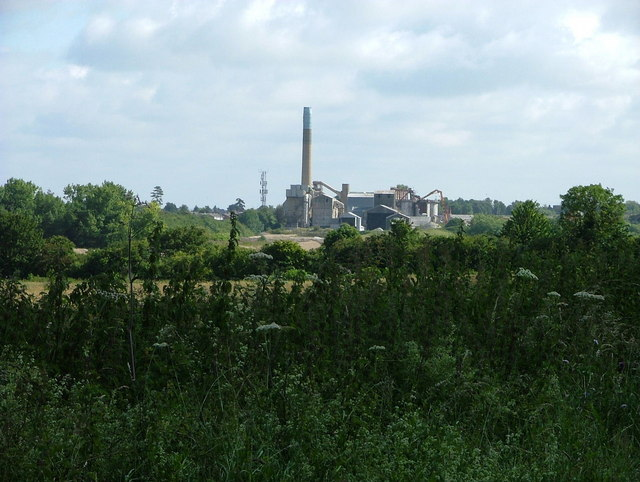 Chinnor cement works from the Ridgeway Path