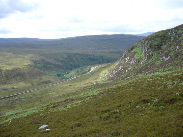 Glen Orrin from the slopes of Beinn an Rubha Riabhaich