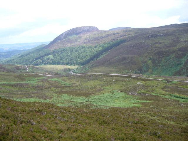 Cul Mor across Glen Orrin from the slopes of Beinn an Rubha Riabhaich