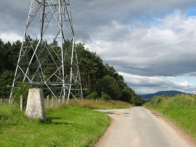 Trig 145m near Thainstone